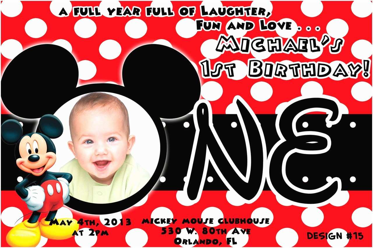 Mickey Mouse Birthday Party Invitations Birthday Invitation Mickey Mouse Birthday Invitations