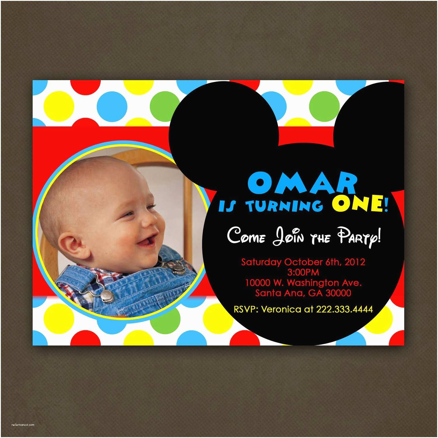 Mickey Mouse Birthday Party Invitations Cartoon Birthday Invitation Mickey Mouse Birthday
