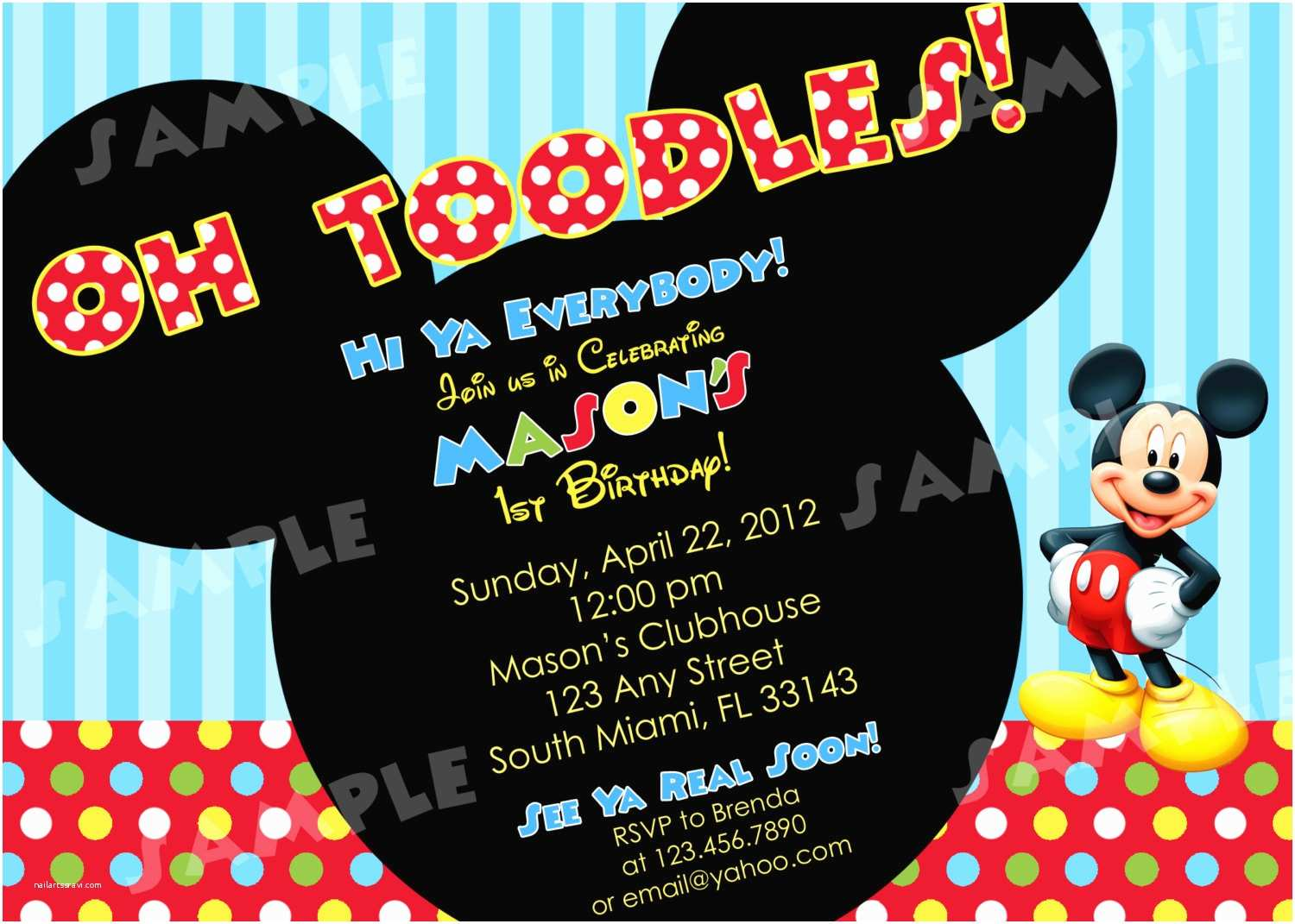 Mickey Mouse Birthday Party Invitations Free Printable Mickey Mouse Invitatons Birthday
