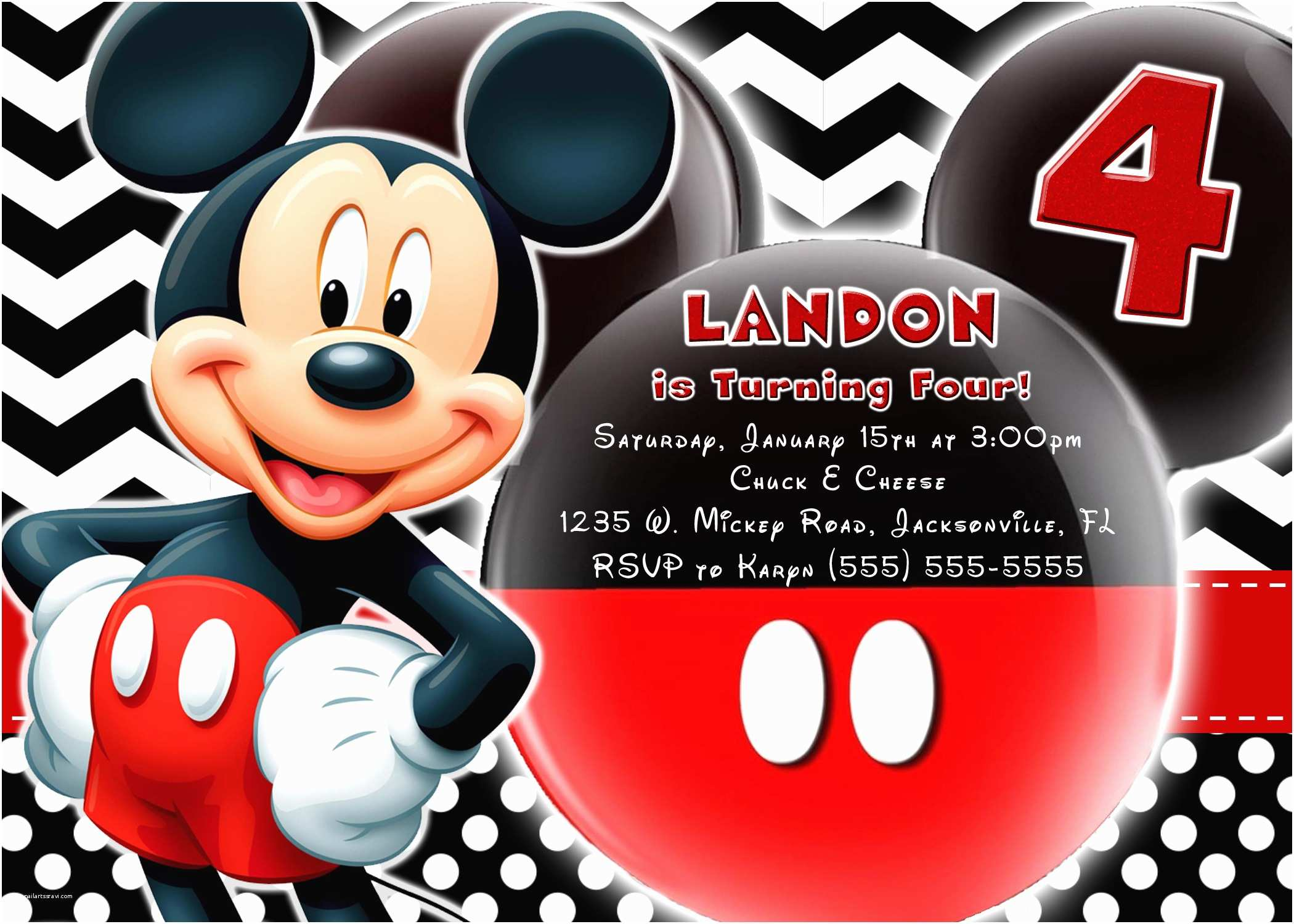 Mickey Mouse Birthday Party Invitations Mickey Mouse and Mickey Mouse Clubhouse Birthday