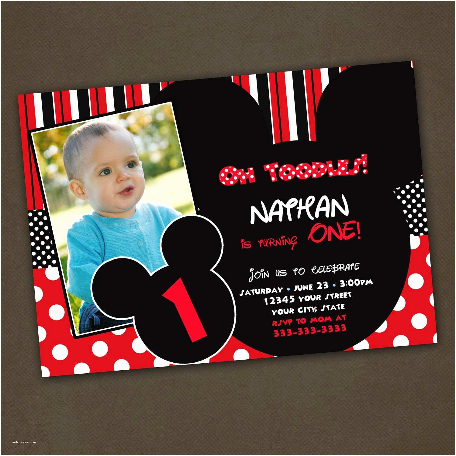 Mickey Mouse Birthday Party Invitations Mickey Mouse Birthday Invitations Mickey and Minnie