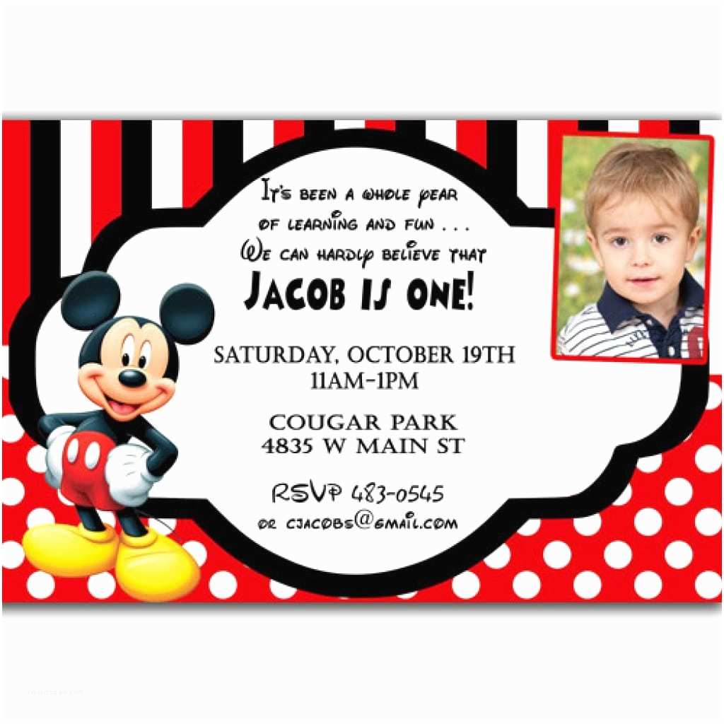 Mickey Mouse Birthday Party Invitations Mickey Mouse Christening Invitation – orderecigsjuicefo