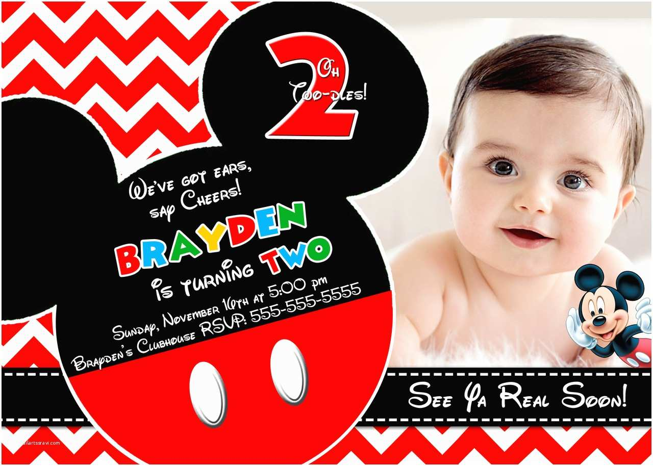 Mickey Mouse Birthday Party Invitations Mickey Mouse Clubhouse Invitations for Special Birthday