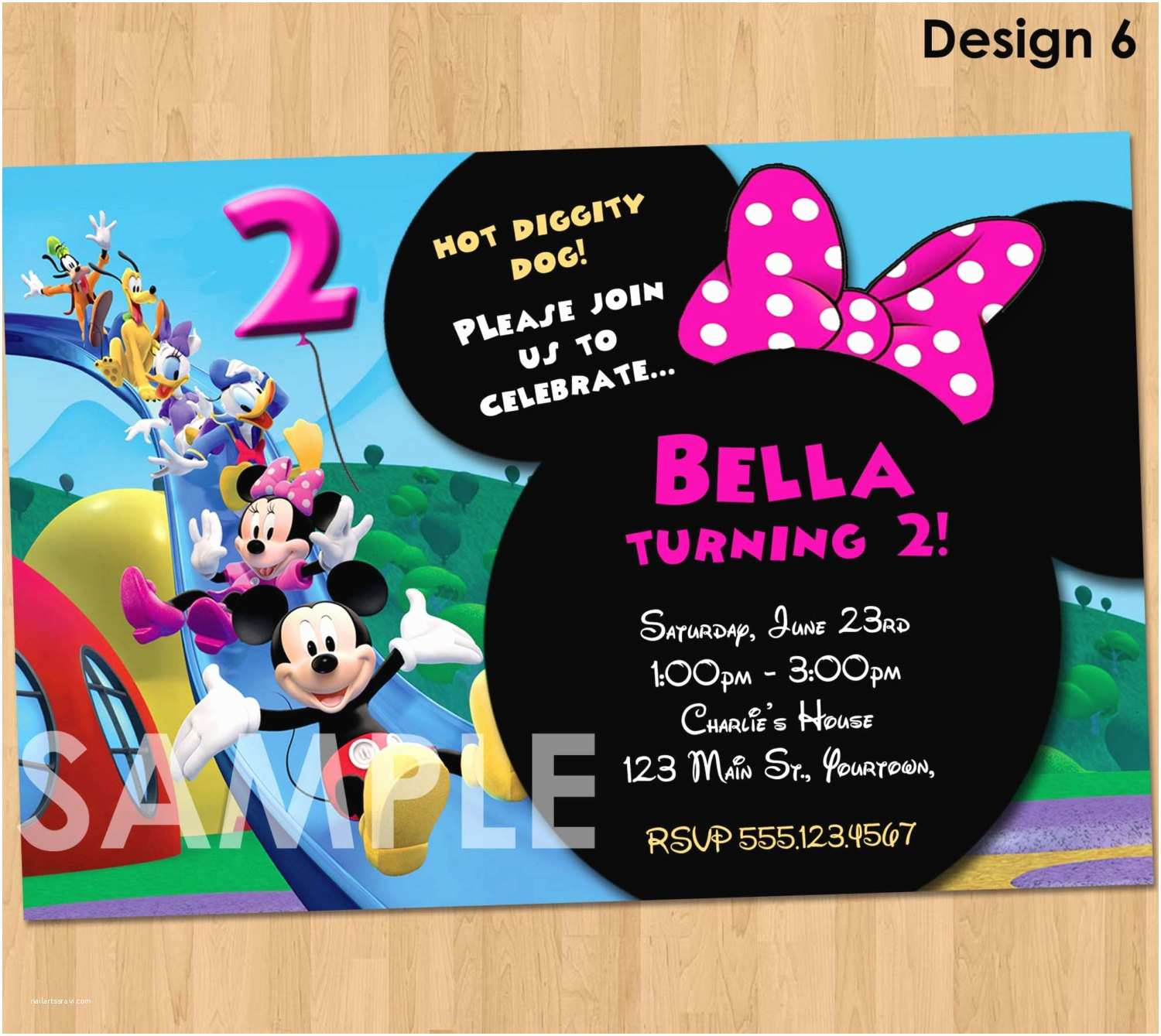 Mickey Mouse Birthday Party Invitations Minnie Mickey Mouse Clubhouse Invitation Printable Birthday