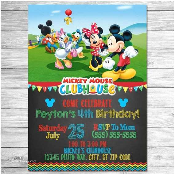 Mickey Mouse Clubhouse Birthday Invitations Best 25 Mickey Mouse Clubhouse Invitations Ideas On