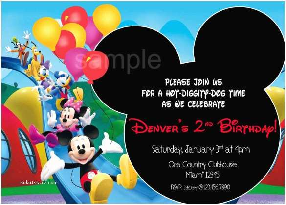 Mickey Mouse Clubhouse Birthday Invitations Mickey Mouse Birthday Invitation Template – 15 Free Psd