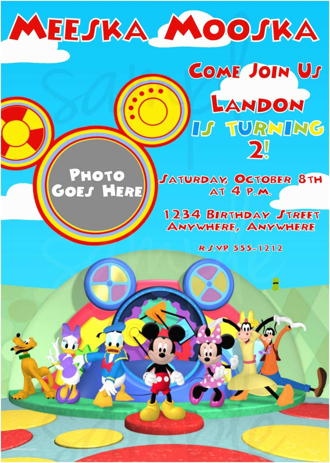 Mickey Mouse Clubhouse Birthday Invitations Mickey Mouse Clubhouse Birthday Invitation by Lovelifeinvites