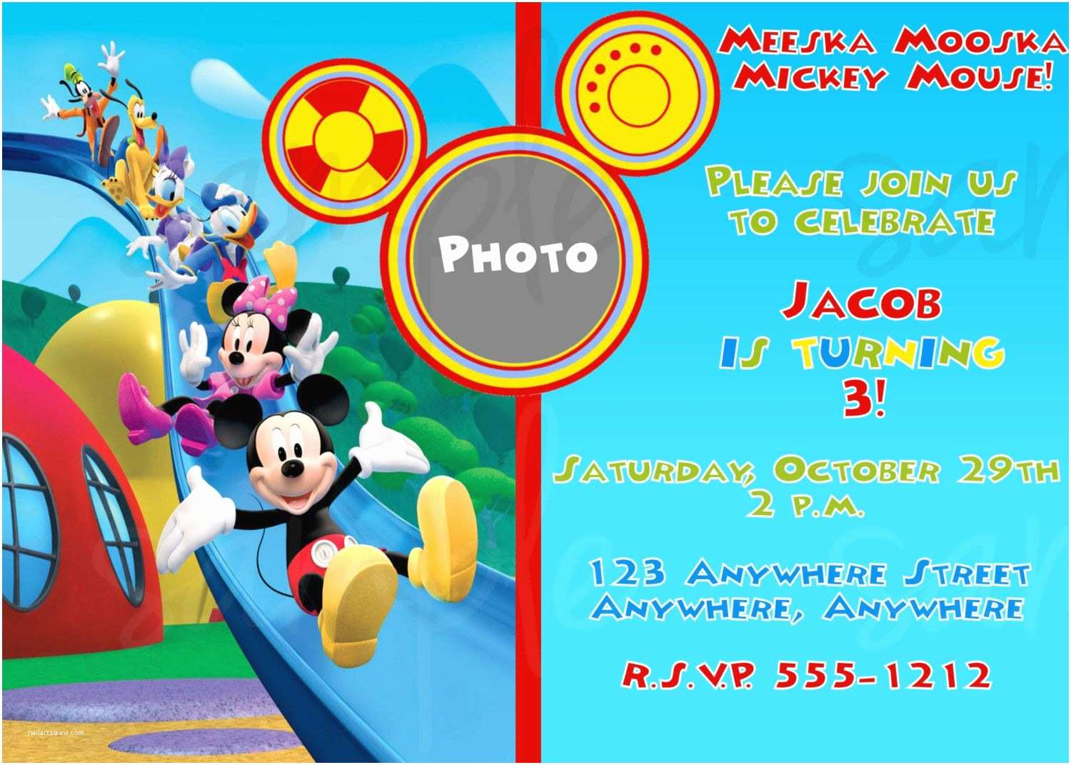 Mickey Mouse Clubhouse Birthday Invitations Exclusive Mickey Mouse