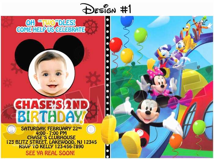 32 Mickey Mouse Clubhouse Birthday Invitations