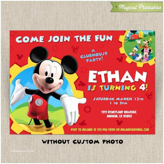 Mickey Mouse Clubhouse Birthday Invitations Mickey Mouse Clubhouse Party Invitations Free