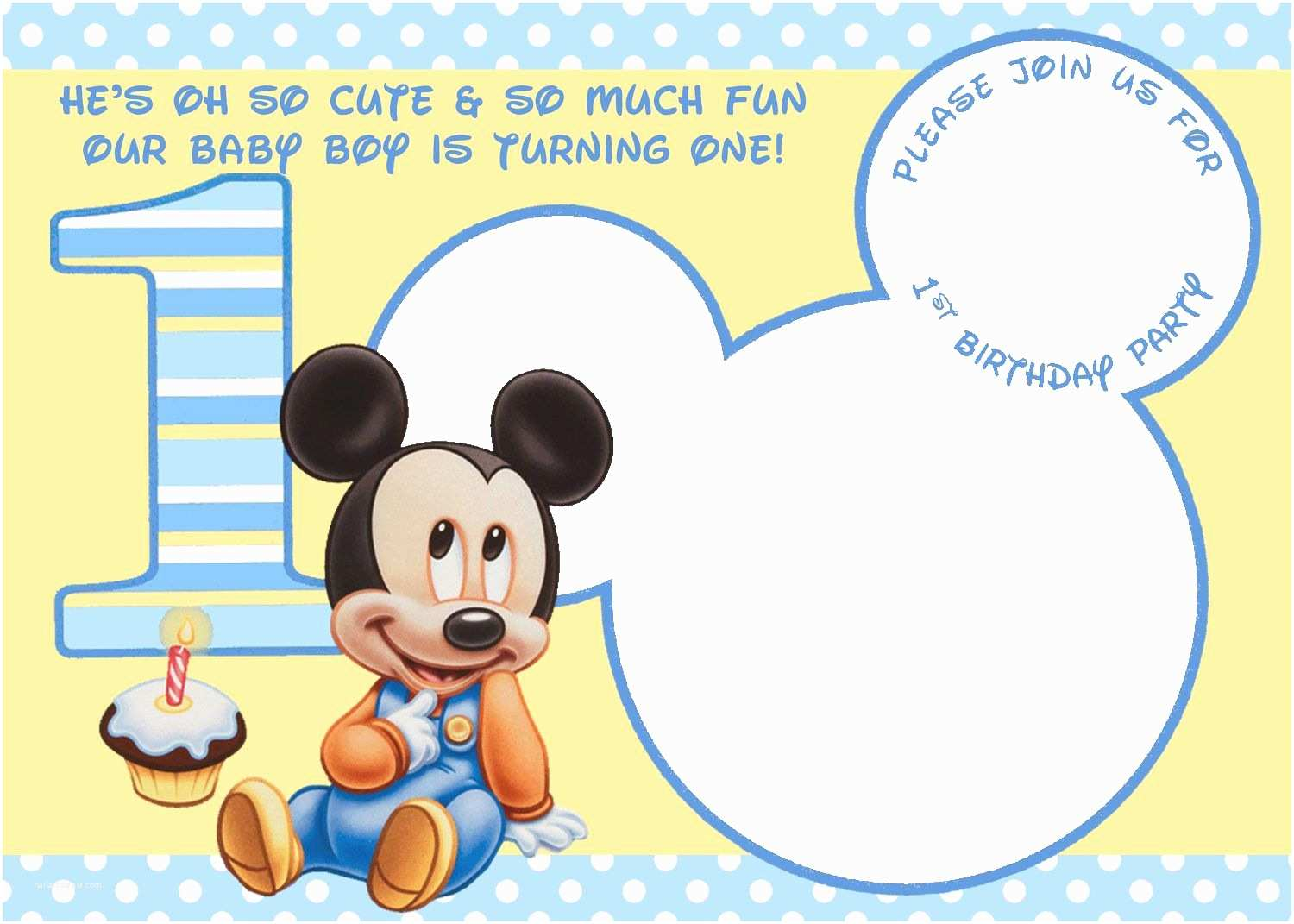 Mickey Mouse First Birthday Invitations Cool Mickey Mouse 1st Birthday Invitations