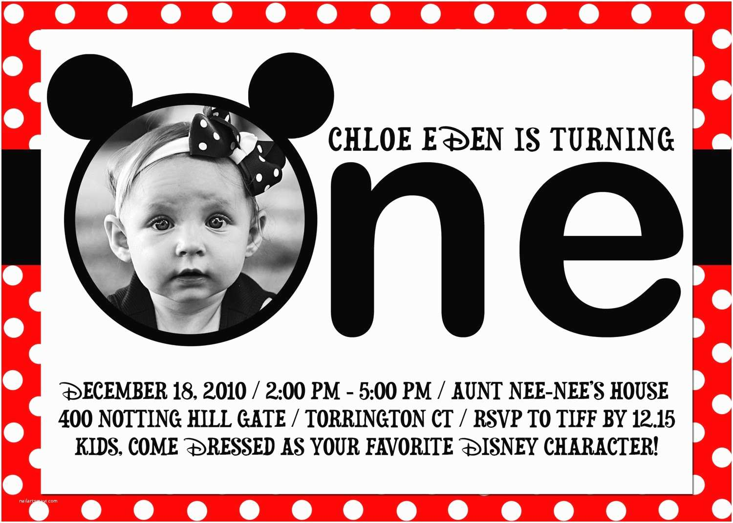 Mickey Mouse First Birthday Invitations Unavailable Listing On Etsy