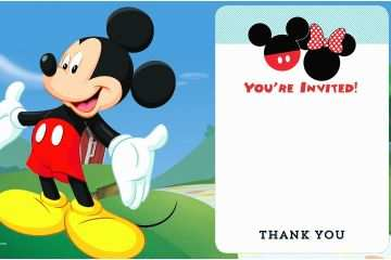 picture relating to Mickey Mouse Printable Birthday Invitations named Mickey Mouse Social gathering Invites Free of charge Disney Printable