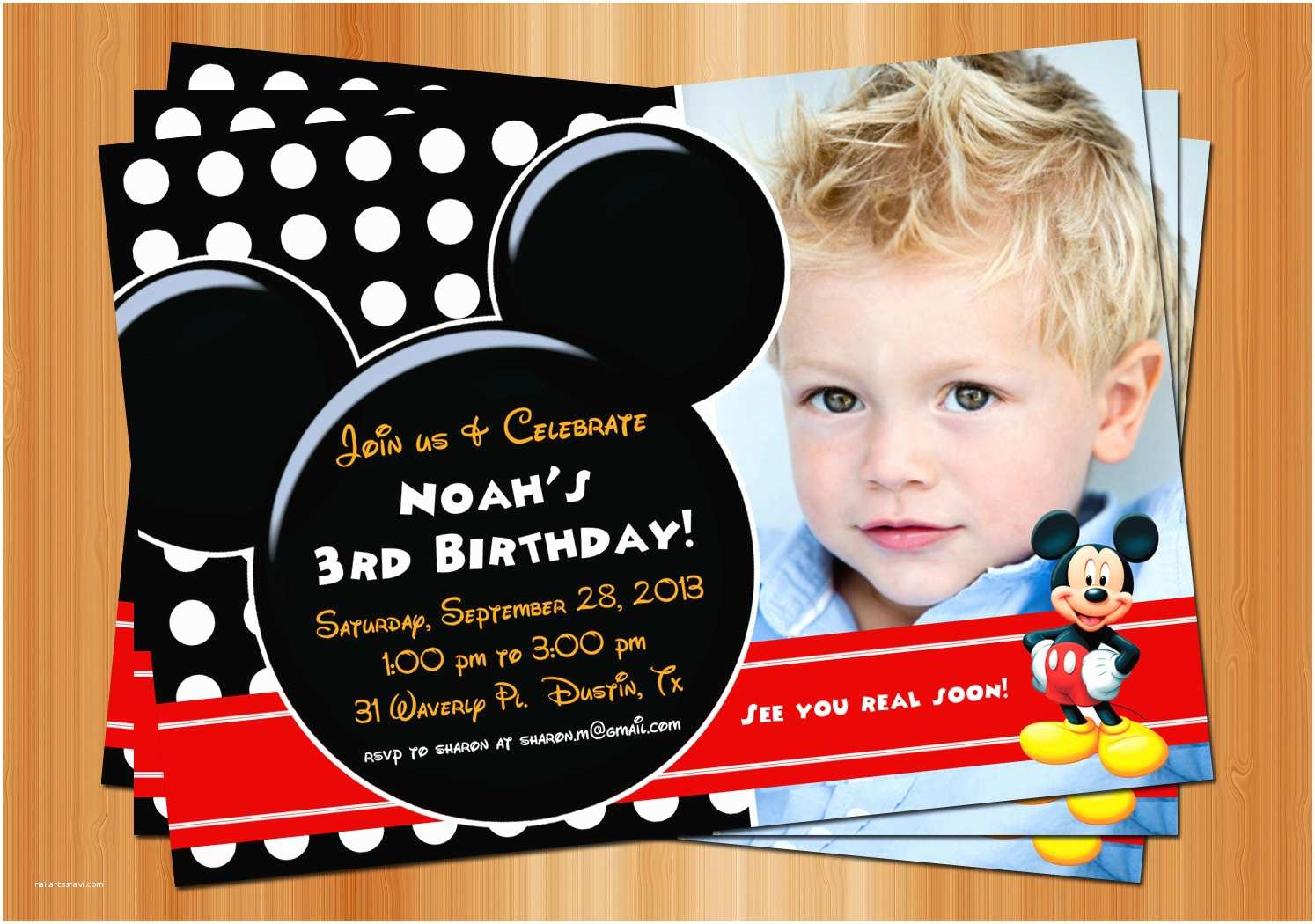Mickey Mouse Party Invitations Free Printable Mickey Mouse Birthday Invitations with