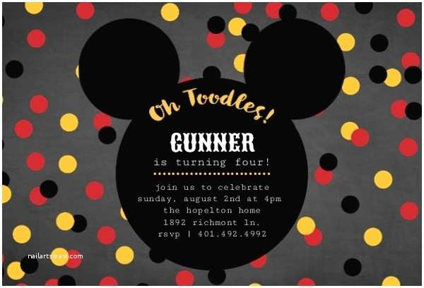Mickey Mouse Party Invitations Mickey Mouse Birthday Party Ideas Wording Activities