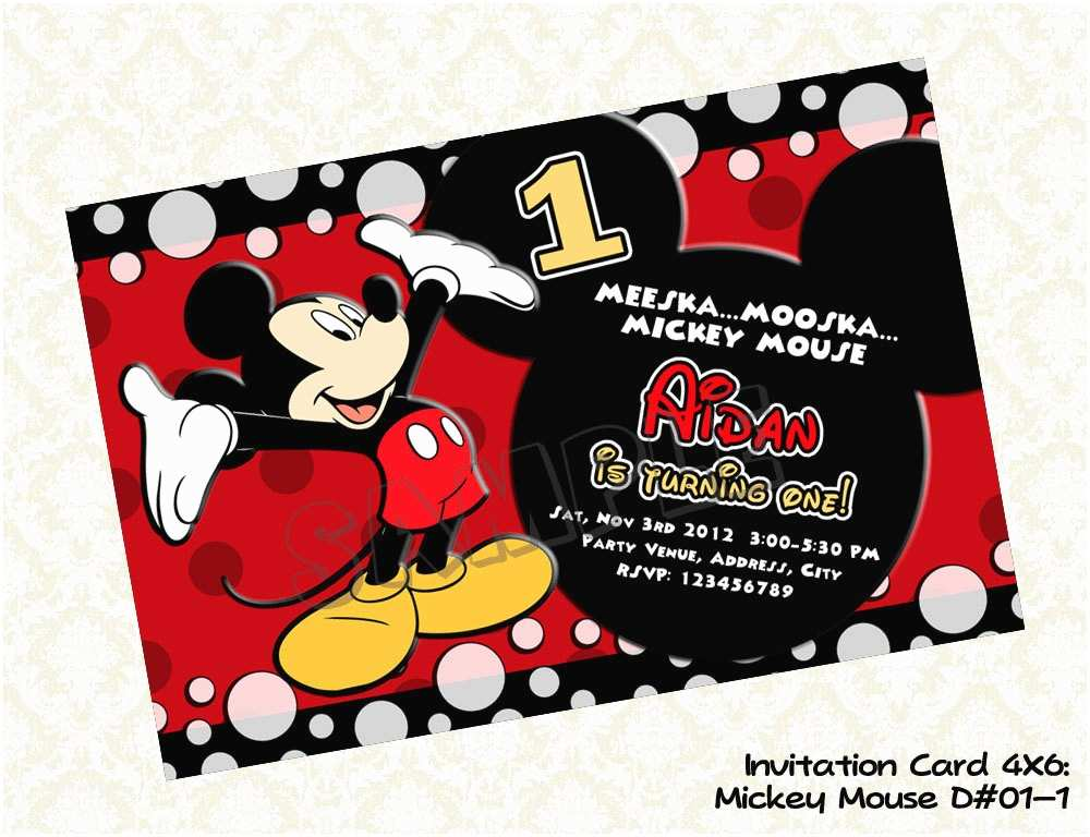 Mickey Mouse Party Invitations Mickey Mouse Party Invitations