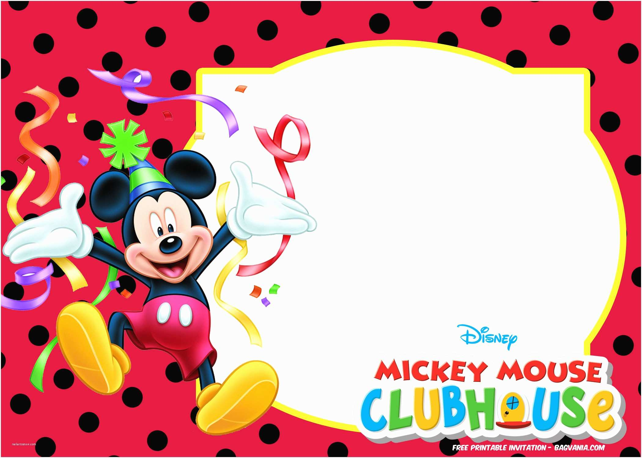 Mickey Mouse Photo Birthday Invitations Free Mickey Mouse Summer Birthday Invitations