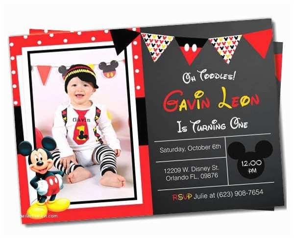 Mickey Mouse Photo Birthday Invitations Mickey Mouse Invitation Templates – 26 Free Psd Vector