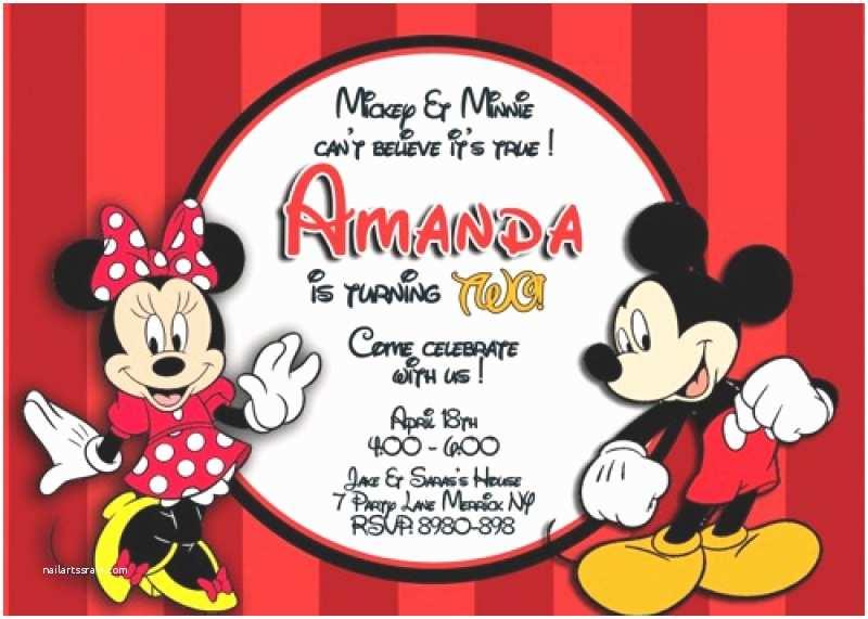 Mickey Mouse Wedding Invitations Mickey and Minnie Invitation Template – orderecigsjuicefo