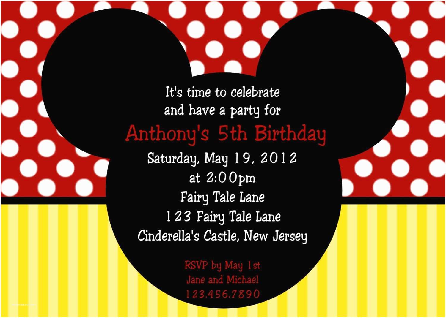 Mickey Mouse Wedding Invitations Mickey Mouse Birthday Invitations Mickey Mouse Birthday