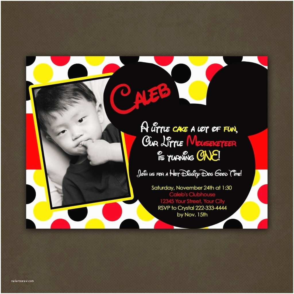 Mickey Mouse Wedding Invitations Mickey Mouse Birthday Invitations Personalized