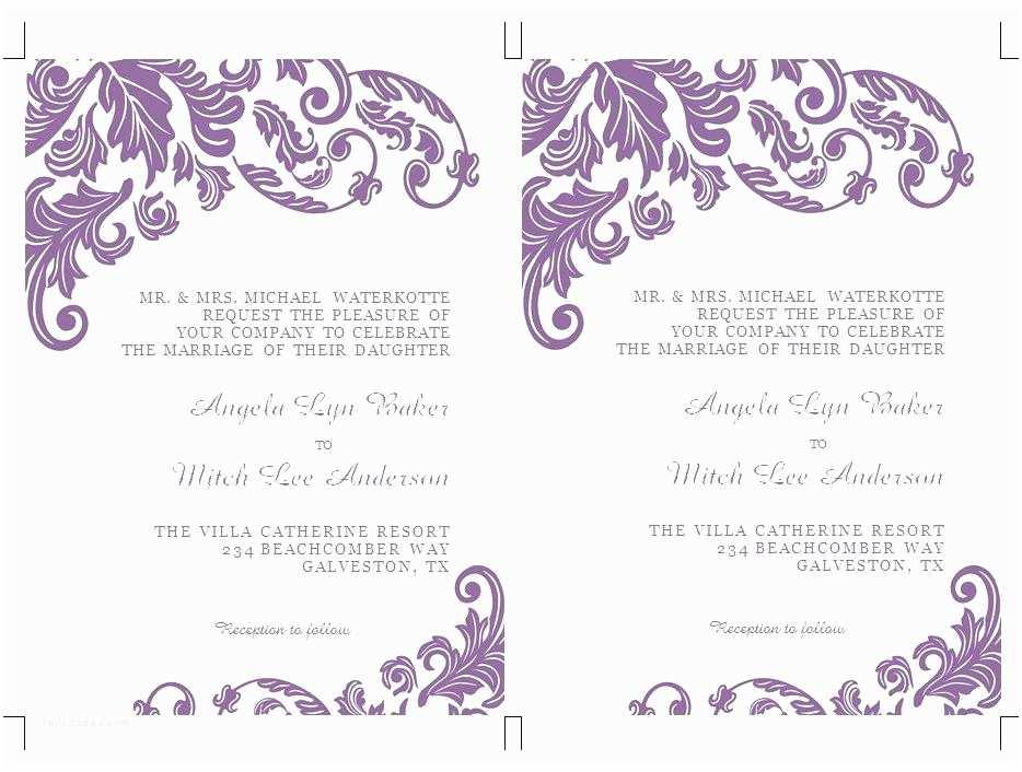 Microsoft Word Wedding Invitation Templates Luxury Invitation Templates Word Picture Collection