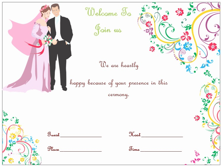 Microsoft Word Wedding Invitation Templates Wedding Invitation Template S Simple and Elegant