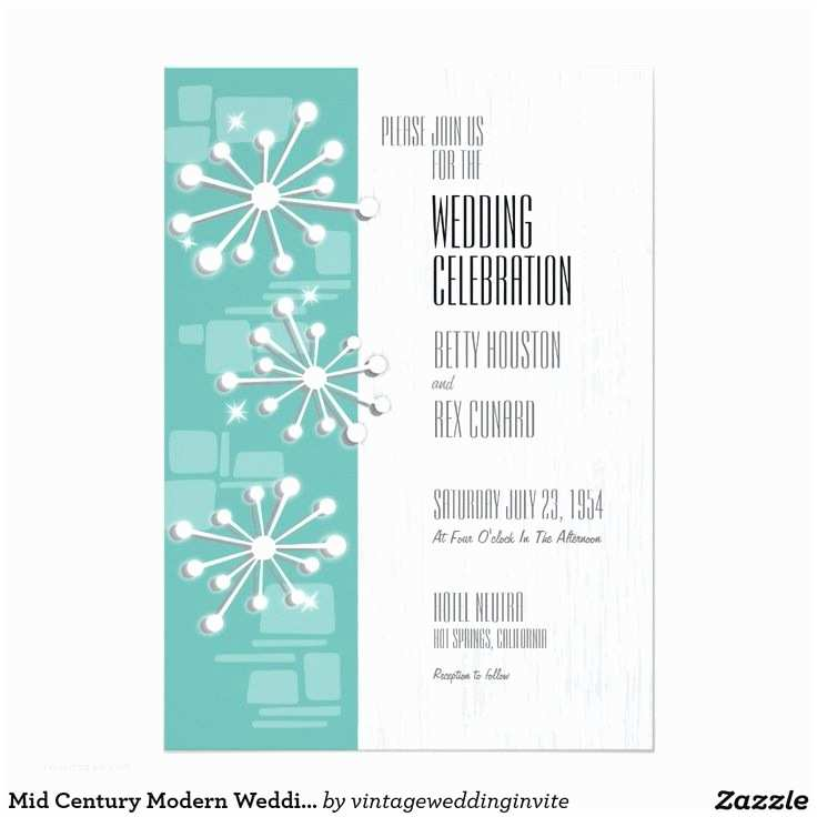 Mid Century Wedding Invitations 17 Best Mid Century Modern Wedding Invitations Images On