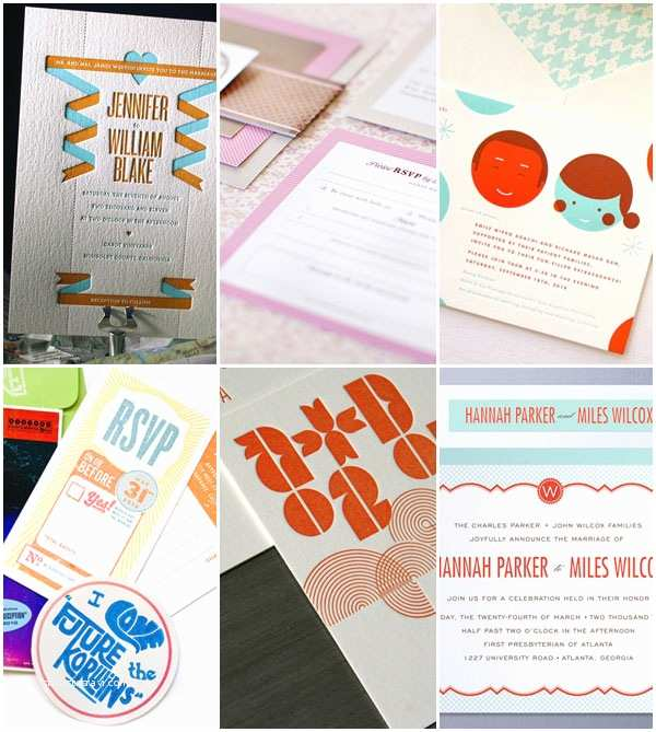 Mid Century Wedding Invitations 2011 Wedding Invitation Trends Style and Inspiration