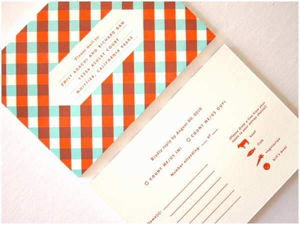 Mid Century Wedding Invitations Emily Dan S Red and Teal Retro Modern Invitations