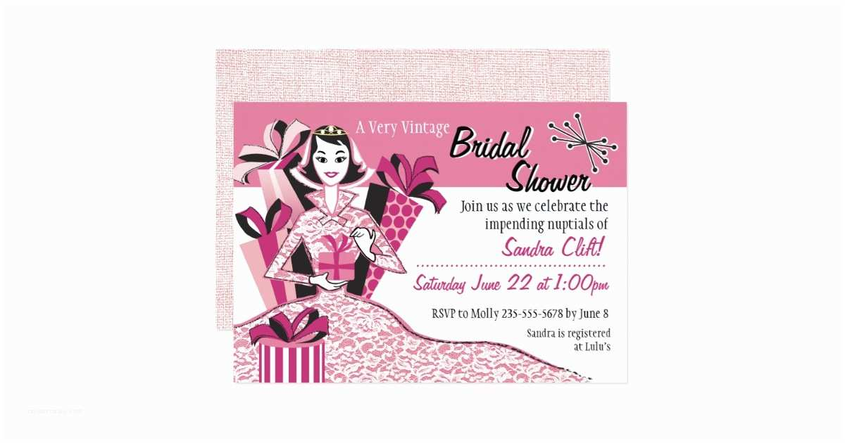 Mid Century Wedding Invitations Mid Century Modern Bridal Shower Invitation