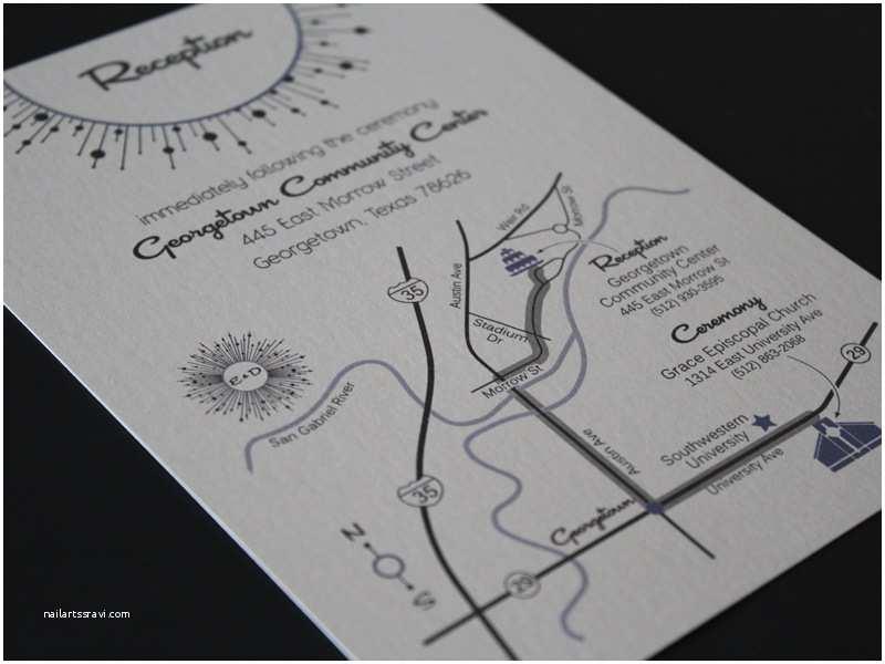Mid Century Wedding Invitations Mid Century Modern Map Card Wedding Invitations Austin