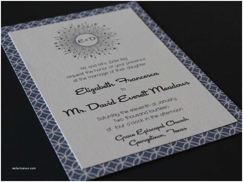 Mid Century Wedding Invitations Mid Century Modern Wedding Invitation Wedding