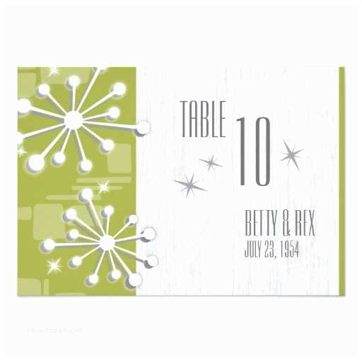 Mid Century Wedding Invitations Mid Century Modern Wedding Table Numbers Custom 9 Cm X 13