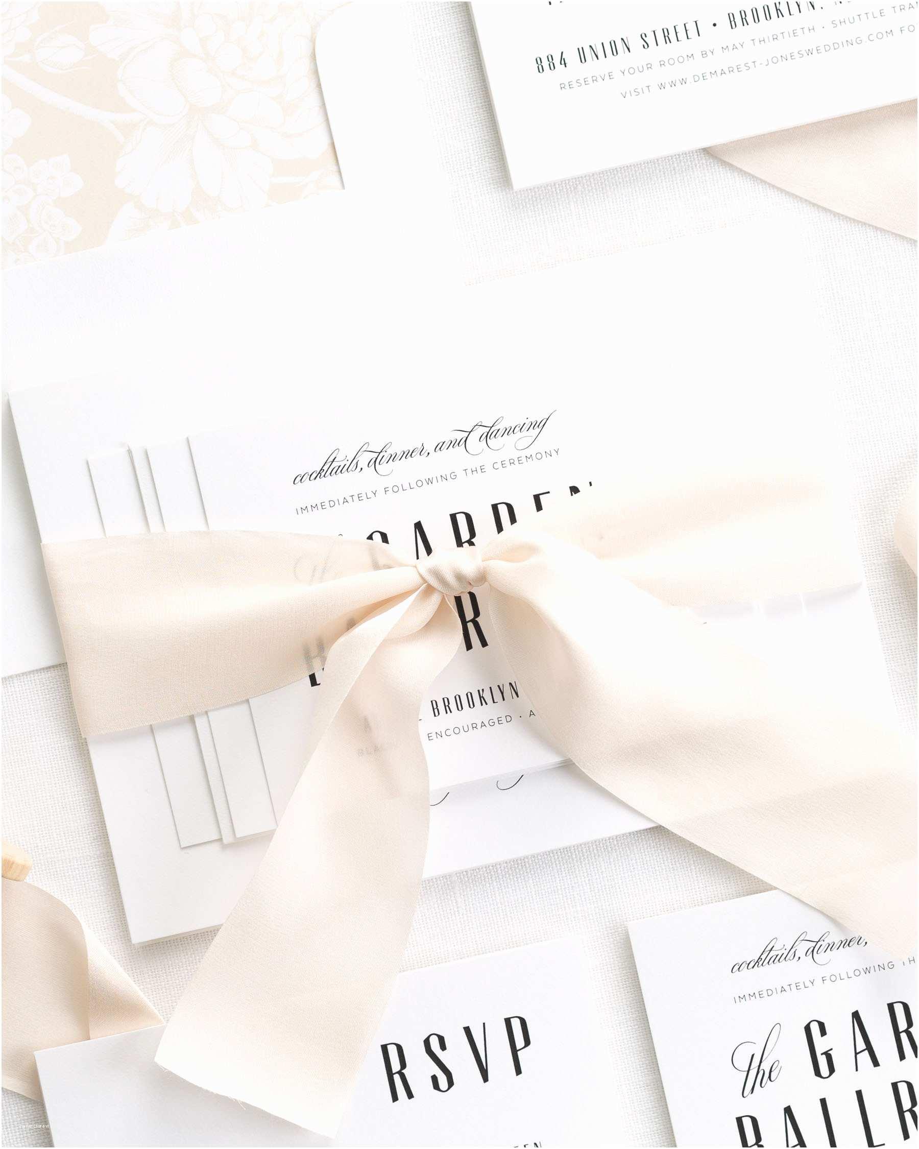 Mid Century Wedding Invitations Mid Century Romance Ribbon Wedding Invitations Ribbon