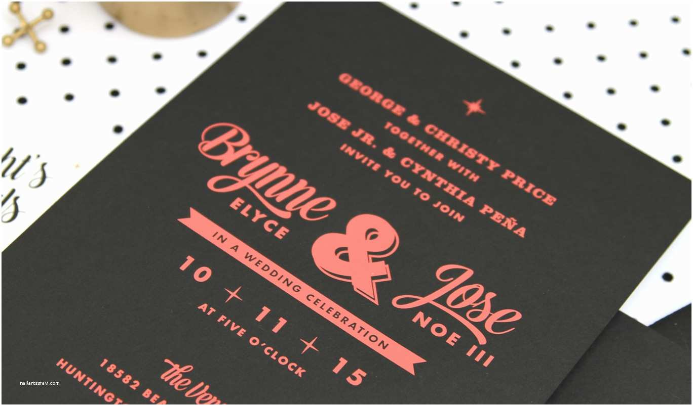 Mid Century Wedding Invitations Peña Invitation Custom Gallery