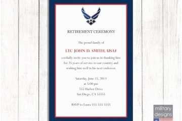 Military Retirement Invitations Air force Retirement
