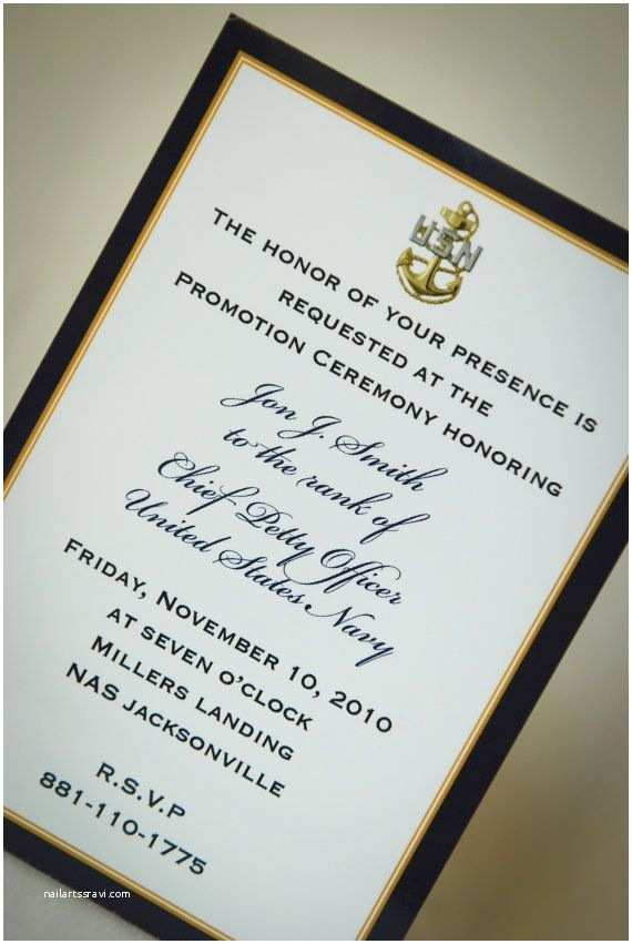 Military Retirement Invitations Digital File Navy Promotion Invitation by Starsandstripe
