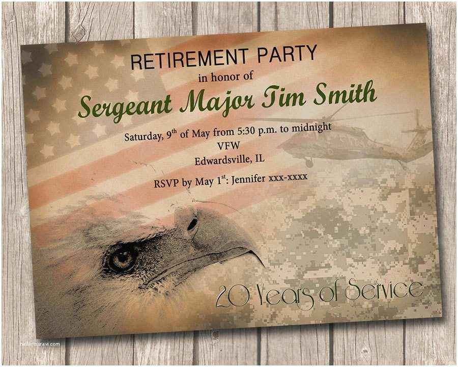 Military Retirement Invitations Military Retirement Party Invitation