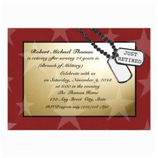 Military Retirement Invitations Military Retirement Party