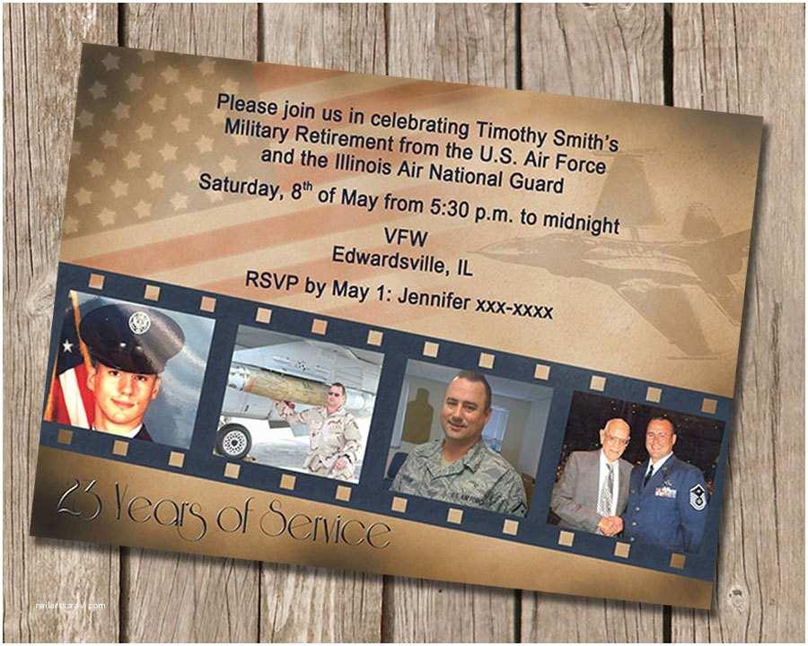 Military Retirement Invitations Vintage Military Retirement Party Invitation