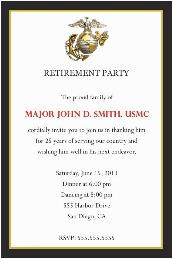 Military Wedding Invitation Wording Samples 71 Best Images About Retirement On Pinterest