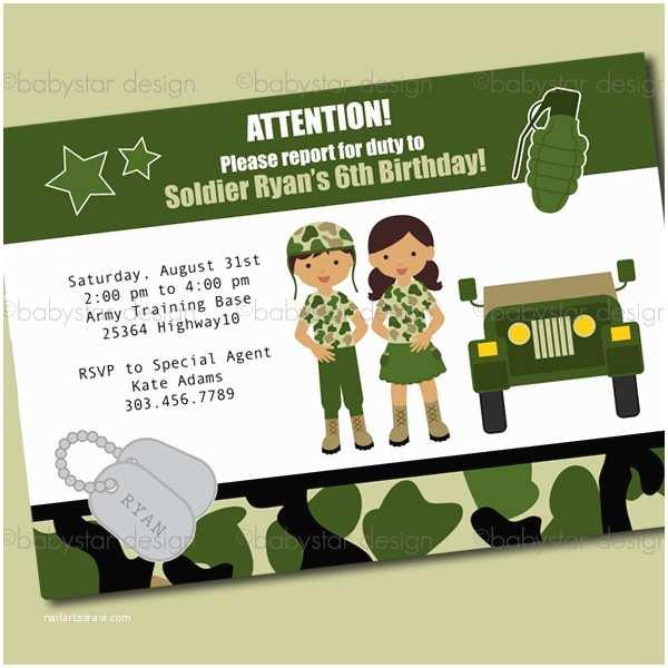 Military Wedding Invitation Wording Samples Army Birthday Clipart 102