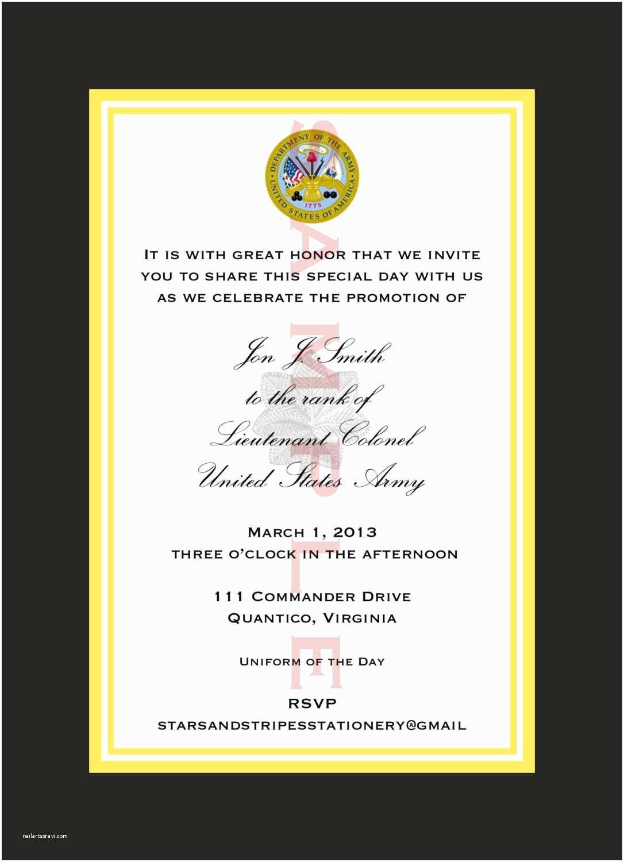 Military Wedding Invitation Wording Samples Marine Corps Retirement Ceremony Invitation