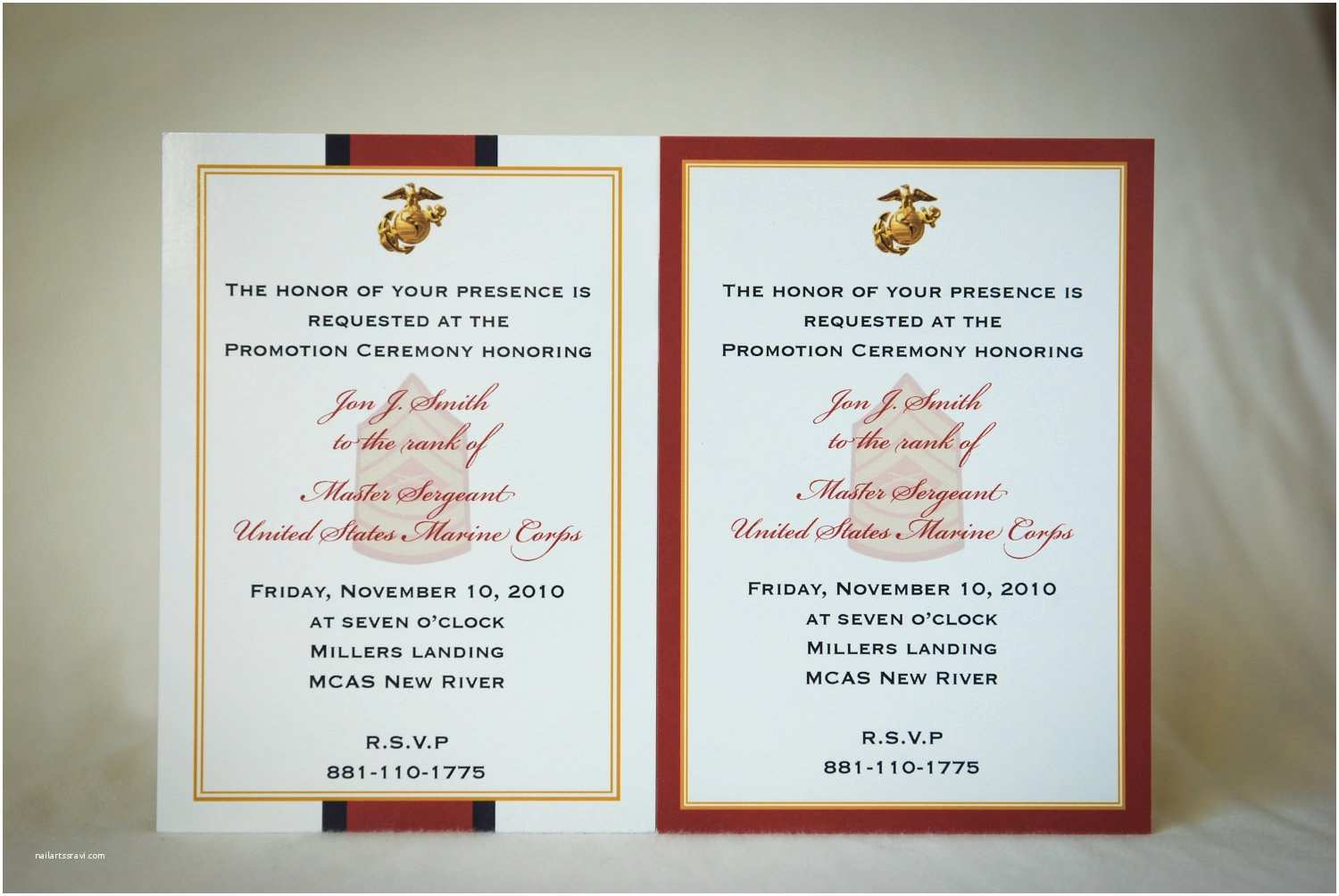 Military Wedding Invitation Wording Samples Marine Enlisted Promotion Invitation Announcement