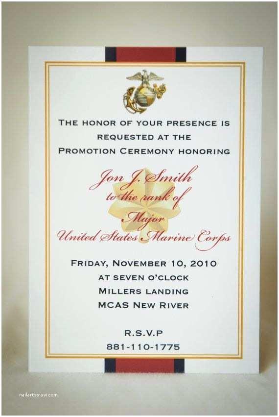 Military Wedding Invitation Wording Samples Marine Ficer Retirement Invitation by Starsandstripe