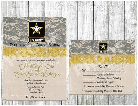 Military Wedding Invitation Wording Samples Wedding Printable Invitation and Rsvp Army Strong and Camo