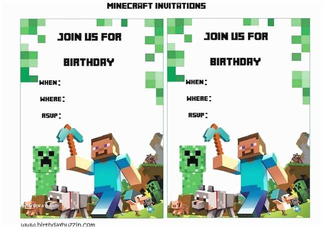 Minecraft Birthday Invitation Template 43 Free Birthday Party Invitation Templates – Free