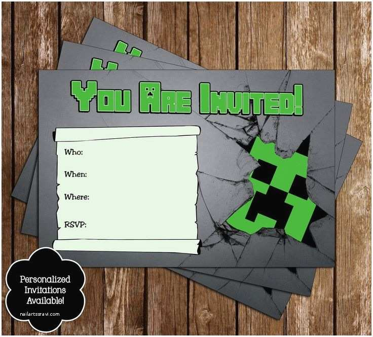 Minecraft Birthday Invitations 23 Best Party Images On Pinterest