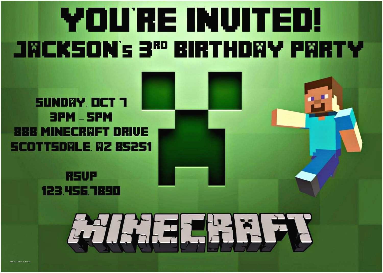 Minecraft Birthday Invitations Minecraft Birthday Party Invitation Template
